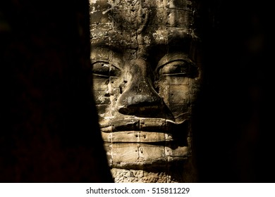 Mysterious face in Angkor