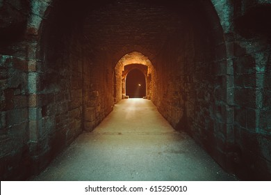 Mysterious magical gate to the underworld. Dark fantasy