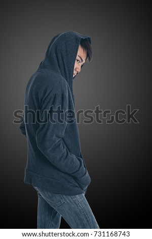 The mysterious man posing