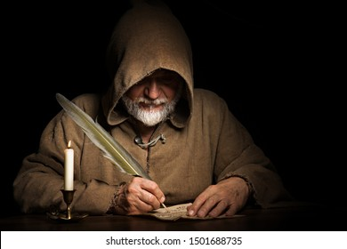 mysterious medieval monk writes letter