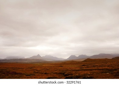 mysterious scotland landscape looking like from another planet