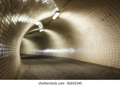 Mysterious tunnel for walkers, Prague