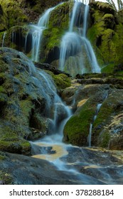Mysterious waterfalls in Transylvania, in the spring