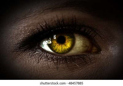 Mystery woman eye closeup
