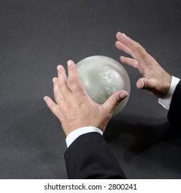 mystic businessman makes predictions