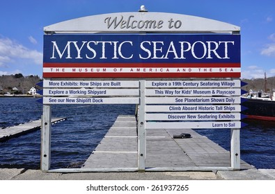 MYSTIC, CT -18 MARCH 2015- Editorial: Founded in 1929 in Mystic, Connecticut, Mystic Seaport Museum of America and the Sea is the world's largest maritime museum.