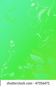 mystic floral background