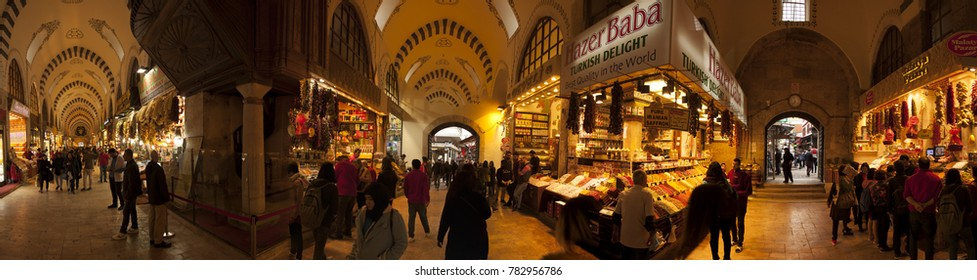 The mystic market of the Silk road and the Middle East, which has been in existence since the empire's ascendancy. Istanbul December 2017.