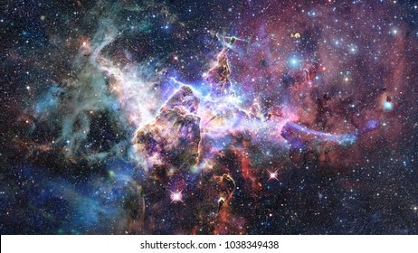 Region In The Carina Nebula Imaged By Hubble Space Telescope Elements