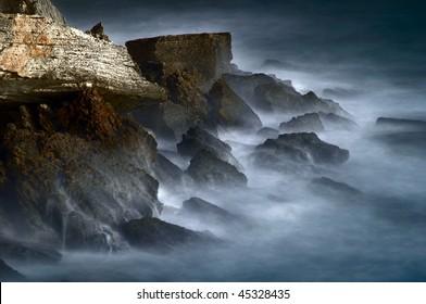 Mystic rocks and frozen water
