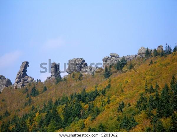 "Mystic stones ""dragons teeth"", Primorye, Russia"