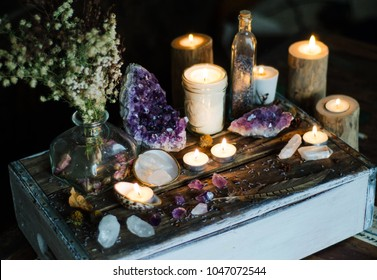 Mystical Altar Amethyst Candles