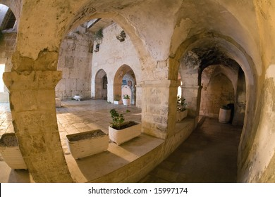 Mystical Courtyard at night in the old city of Jerusalem.