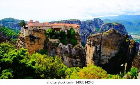 Mystical Eastern Orthodox monasteries at Meteora, Greece