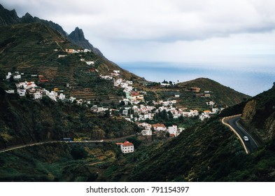 Mystical landscape of Taganana village on north of Tenerife. Canary Islands, Spain