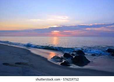 Mystical and Magical Sunrise at the Shore on a Summer Morning