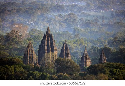 Mystical Prambanan Temple in the Morning