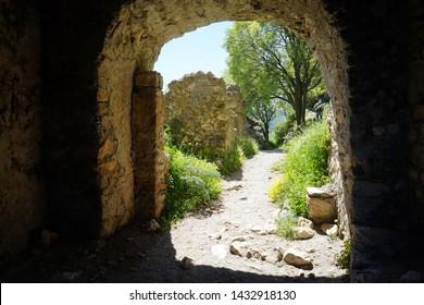MYSTRAS, GREECE  CIRCA MAY 2019 Big arch