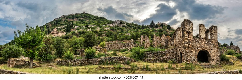 Mystras, Peloponnese. Ancient Byzantine town.