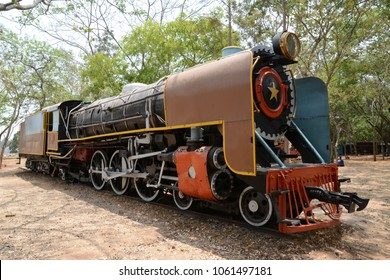 Mysuru, India - April 10, 2016: The YP2511 steam locomotive of the Indian Railways built by Telco in 1963.
