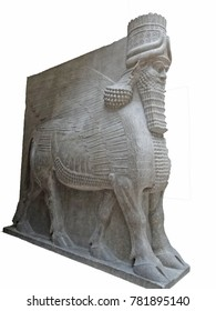 Mythical beast of Assyria, Louvre Museum, Paris , France