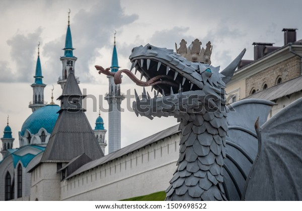 "The mythological creature ""Zilant"", a  symbol of Kazan city, Russia"