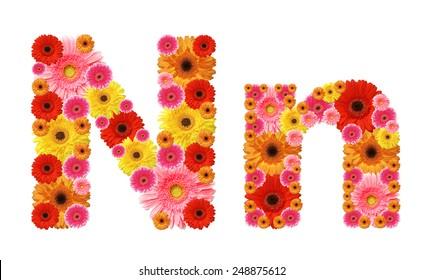 n, flower alphabet