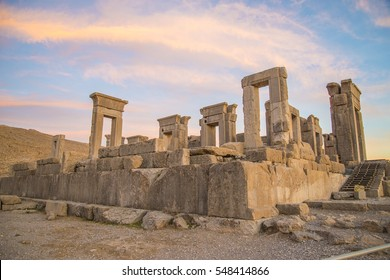 n the ruins of ancient Persepolis capital of Achaemenid Empire in Shiraz, Iran.