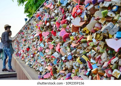 "N Seoul Tower is one of the iconic symbols of Seoul, couples head to the tower to lock their ""padlock of love"" onto the railing and to dream that their love will last forever."