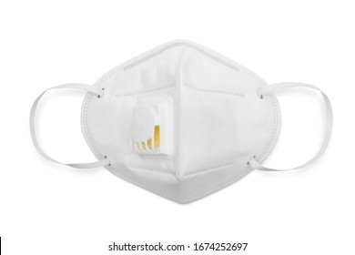 N95 mask for protection pm 2.5 and corona virus isolated on white background, Medical mask protection against pollution, virus, flu, coughing and coronavirus.
