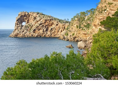 Na Foradada Cape in the coast of Majorca (Balearic Islands - Spain)