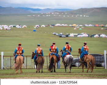 Naadam festival horse race, annual festival in Mongolia Ulaanbaatar with horses