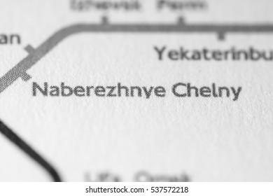 Naberezhnye Chelny, Russia on a geographical map.