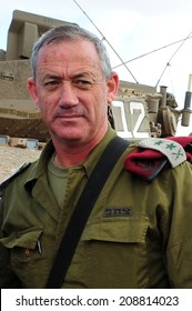 NACHAL OZ - MAY 08 2011:IDF Chief of Staff, General Benny Gantz near Gaza strip.He is the current Chief of General Staff of the Israel Defense Forces.