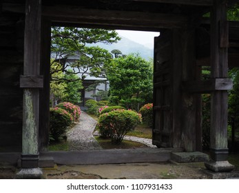 Nachisan with Pagoda of Seiganto-ji Temple at Nachi Katsuura with Nachi waterfall in Wakayama, Japan, Asia
