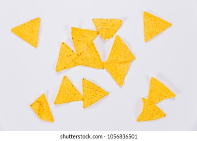Nachos isolated on white background