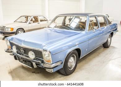 Nadarzyn, Poland, May 13, 2017: Opel Diplomat 1972 glossy and shiny old classic retro oldtimer
