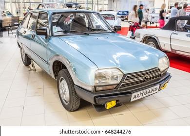 Nadarzyn, Poland, May 13, 2017 Warsaw Oldtimer Show: Citroen GSA X3 glossy and shiny old classic retro auto