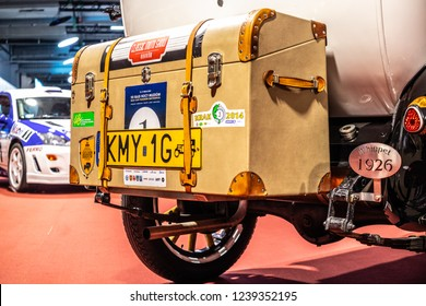 Nadarzyn, Poland, November 16, 2018: old classic Vintage car Willys Overland Whippet at Warsaw Motor Show, shiny restored oldtimer