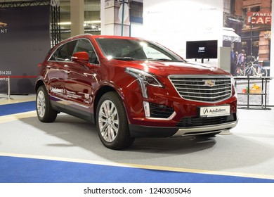 Nadarzyn, Poland - November, 16, 2018: Cadillac XT5 car on Warsaw Motor Show.