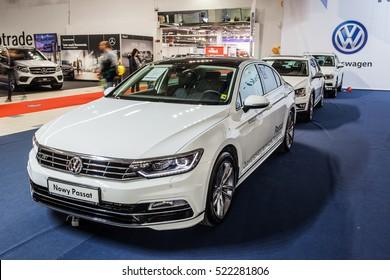 Nadarzyn, Poland, November 20, 2016, Warsaw Moto Show: VW Volkswagen Passat Sedan