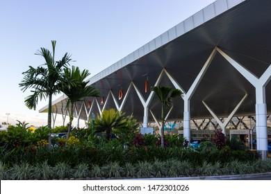 NADI, FIJI - MAY 1, 2019: Main Entrance to Nadi International Airport