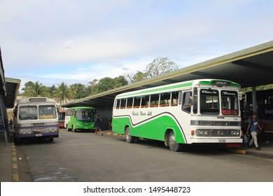Nadi/Fiji_18 Aug 2019: Local buses are cheap and plentiful around Fiji. Open air buses are an excellent way to meet the locals.