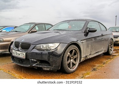 NADYM, RUSSIA   AUGUST 29, 2015: Motor Car BMW E92 M3 At The