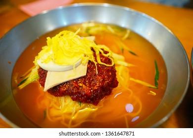 Naengmyeon, cold noodles, Korean food
