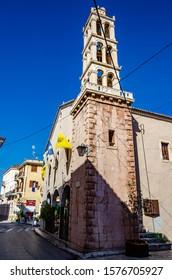 Nafplio, Greece - April 2018: St. George Church, Nafplio, Peloponnese, Greece
