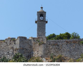 Nafplio, Greece / Greece - August 2019: Clock tower in Nafplio