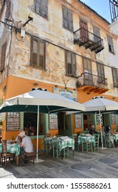 Nafplio Greece May 8,2018 A quaint traditional traverna in the old town of Nafplio.
