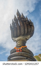 Naga statue in the temple of Thailand.