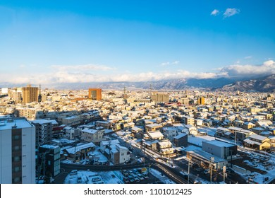 Nagano city view in winter